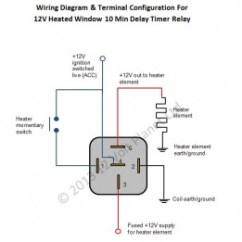 Wiring Diagram For 2 Way Light Switch General Electric Motor 12v Universal Window Heater Timer Relay | 12 Volt Planet
